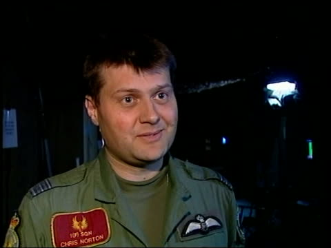 wing commander chris norton interviewed sot when you look out at all missiles it concentrates the mind uncomfortable feeling - channel 4 news stock videos and b-roll footage