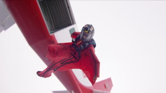 Wing Suit Pilot Exits Airplane