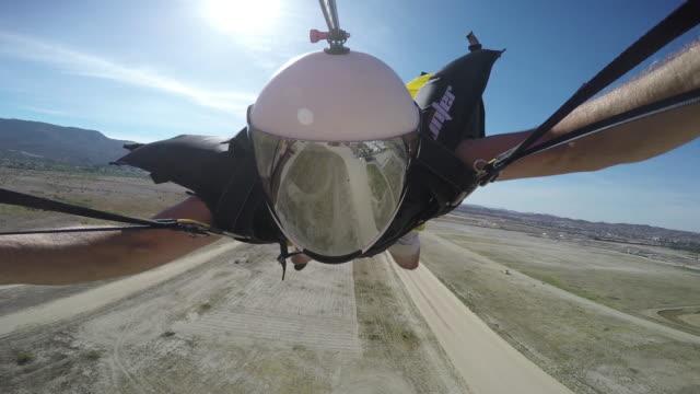 Wingsuit Pilot Lands His Parachute