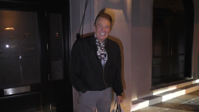 interview wink martindale talks about his holiday plans outside craig's restaurant in west hollywood in celebrity sightings in los angeles - west hollywood stock videos & royalty-free footage