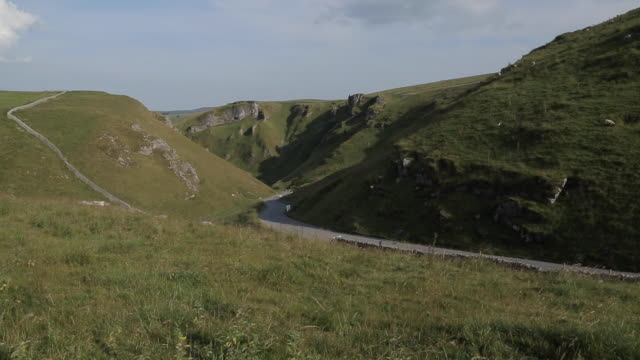 winnats pass near castleton, hope valley, derbyshire, england, uk, europe - 2003 stock videos & royalty-free footage