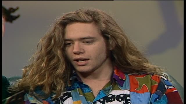 WILSON winner of 1991 Star Search competition Talks about his single Guiding Hand and band the 'Blue Phoenix' / Being compared to people like Bono...