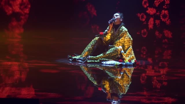 winner of the eurovision song contest 2016 jamala performs on a stage during the final of the ukrainian national qualification for the eurovision... - 61st eurovision song contest stock videos and b-roll footage