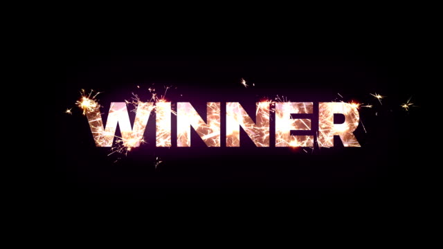 """winner"" text made of bengal lights - casino winner stock videos & royalty-free footage"