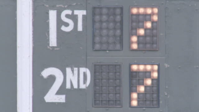 winners displayed on an electronic sign blink back and forth. - scoring stock videos & royalty-free footage
