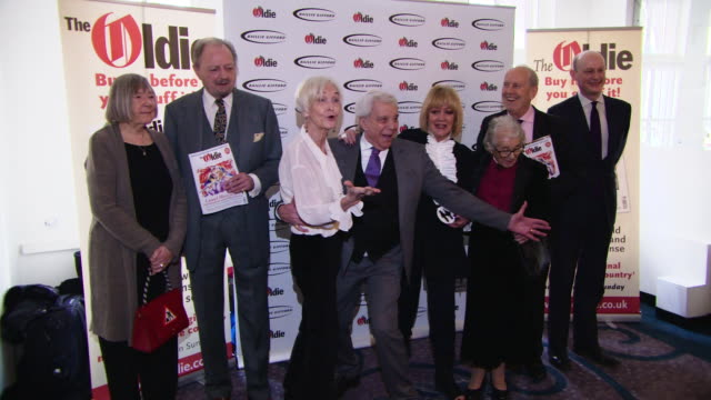 winners of the oldie of the year awards on january 29, 2019 in london, england. - nicholas parsons stock videos & royalty-free footage