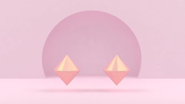 表彰台 - パステルカラー点の映像素材/bロール