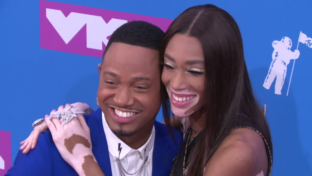 winnie harlow and guest at 2018 mtv video music awards at radio city music hall on august 20 2018 in new york city - winnie harlow stock videos & royalty-free footage