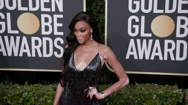 winnie harlow at 77th annual golden globe awards at the beverly hilton hotel on january 05 2020 in beverly hills california - winnie harlow stock videos & royalty-free footage