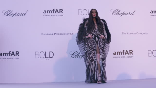 SLOMO Winnie Harlow at amfAR Gala Cannes 2018 at Hotel du CapEdenRoc on May 17 2018 in Cap d'Antibes France
