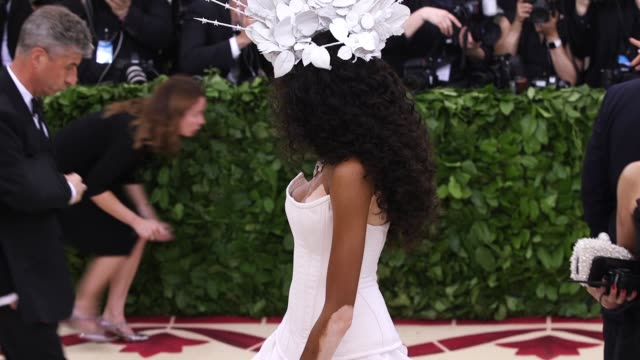fashion the catholic imagination costume institute gala at the metropolitan museum of art on may 07 2018 in new york city - winnie harlow stock videos & royalty-free footage