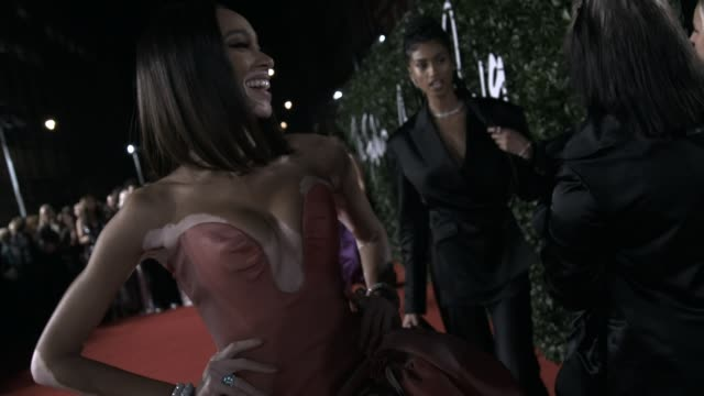 winnie harlow at the fashion awards 2019 at royal albert hall on december 02 2019 in london england - award stock videos & royalty-free footage