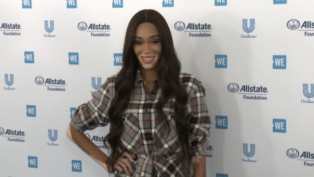 winnie harlow at the we day california celebrates 16000 youth leading lasting change in america at the forum on april 25 2019 in inglewood california - winnie harlow stock videos & royalty-free footage