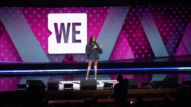 winnie harlow at we day new york welcome to celebrate young people changing the world at radio city music hall on april 06 2017 in new york city - radio city music hall stock videos & royalty-free footage