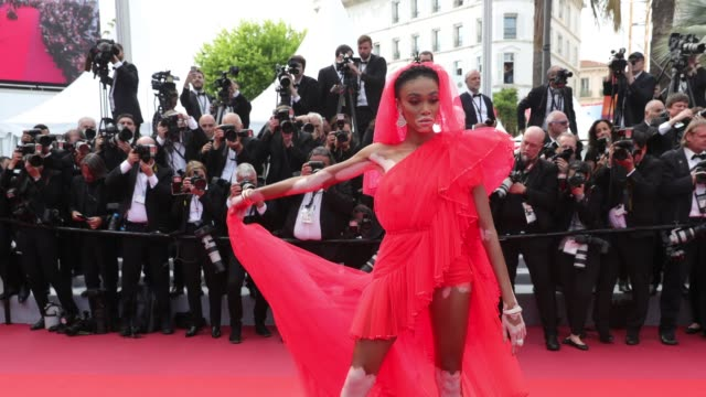 GIF Winnie Harlow attends the screening of Once Upon A Time In Hollywood during the 72nd annual Cannes Film Festival on May 21 2019 in Cannes France