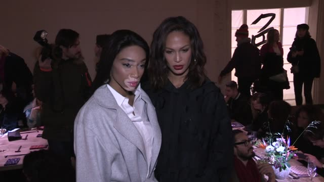 Winnie Harlow Joan Smalls front row for the HM Fashion Show in Paris Paris France on Wednesday February 28 2018