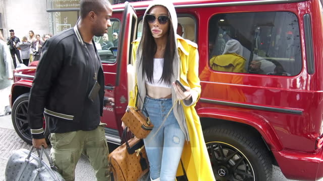 winnie harlow seen arriving at the bfc show space during london fashion week at celebrity sightings in london at on september 14 2018 in london... - winnie harlow stock videos & royalty-free footage