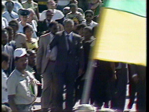 winnie mandela receives jail sentence itn winnie mandela along with nelson mandela on his release from prison lib winnie mandela giving evidence at... - releasing stock videos & royalty-free footage