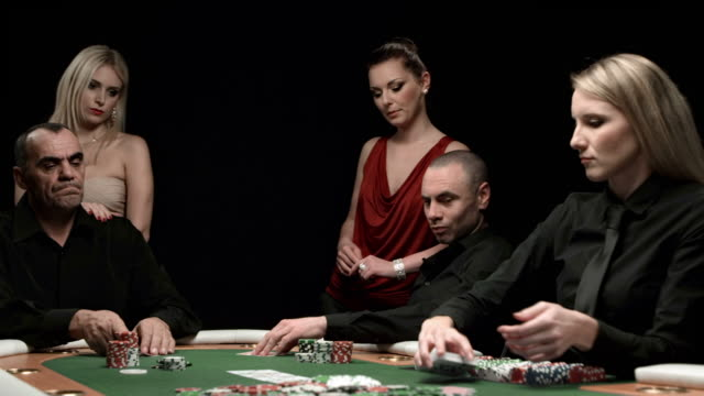 hd dolly: winning a poker game - loss stock videos & royalty-free footage