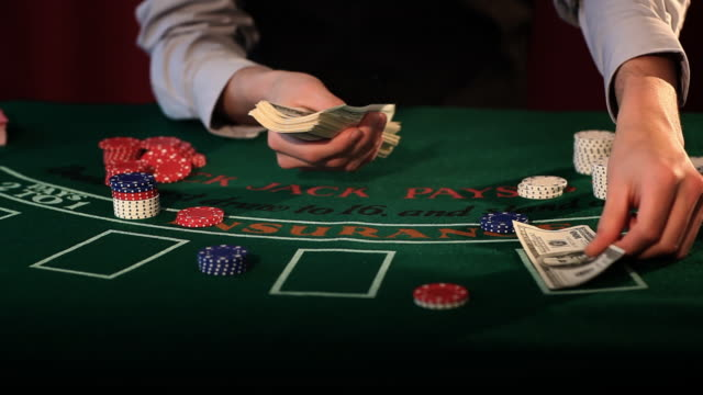 winning big - blackjack stock videos and b-roll footage