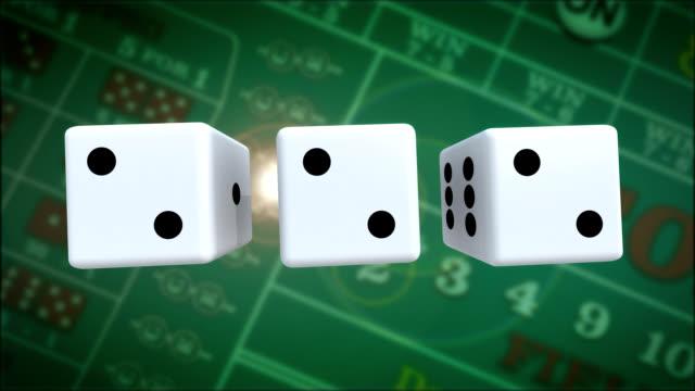 vidéos et rushes de primé de craps au grand casino - chiffre 6