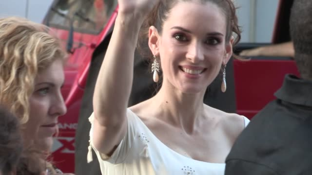 winona ryder arrives at the frankenweenie premiere in hollywood 09/24/12 - winona ryder stock videos & royalty-free footage