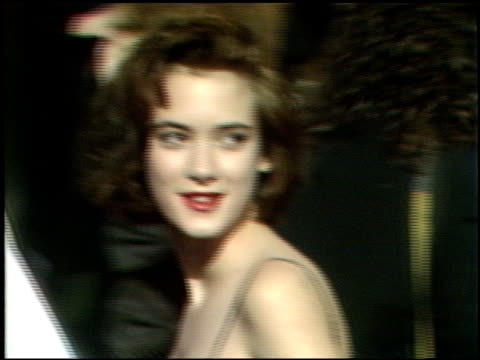 winona ryder at the 1989 academy awards at the shrine auditorium in los angeles, california on march 29, 1989. - winona ryder stock videos & royalty-free footage