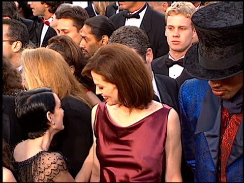 winona ryder at the 1997 academy awards arrivals at the shrine auditorium in los angeles, california on march 24, 1997. - 69th annual academy awards stock videos & royalty-free footage