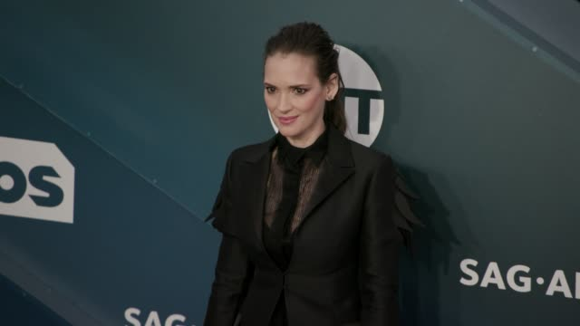 winona ryder at the 26th annual screen actorsguild awards - arrivals at the shrine auditorium on january 19, 2020 in los angeles, california. - winona ryder stock videos & royalty-free footage