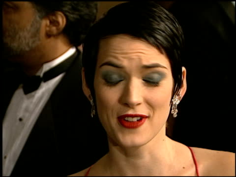 winona ryder at the afi honoring martin scorcese at the beverly hilton in beverly hills, california on february 20, 1997. - winona ryder stock videos & royalty-free footage