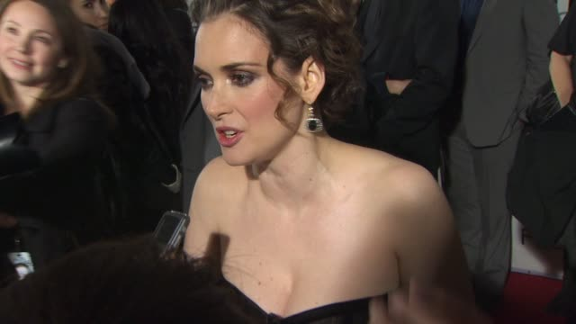 winona ryder at the 'black swan' premiere at hollywood ca. - winona ryder stock videos & royalty-free footage