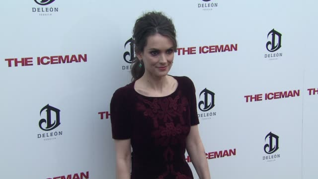 winona ryder at the iceman los angeles premiere 4/22/2013 in hollywood ca - winona ryder stock videos & royalty-free footage