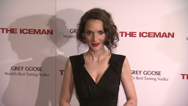 winona ryder at the iceman new york screening at chelsea clearview cinema on april 29 2013 in new york new york - winona ryder stock videos & royalty-free footage