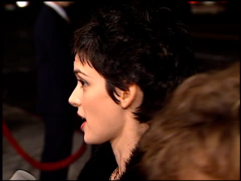 winona ryder at the premiere of 'the crucible' at samuel goldwyn theater in beverly hills, california on november 20, 1996. - 1996 stock videos & royalty-free footage
