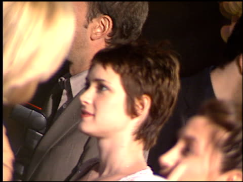 winona ryder at the premiere of 'the talented mr ripley' at the mann village theatre in westwood, california on december 12, 1999. - winona ryder stock videos & royalty-free footage