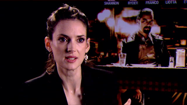 winona ryder on her character her appraoched the role what attracted her to it at the iceman interviews 69th venice film festival on august 31 2012... - winona ryder stock videos & royalty-free footage