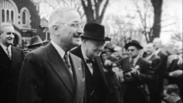 winston churchill and harry s truman / united kingdom - film montage stock videos & royalty-free footage