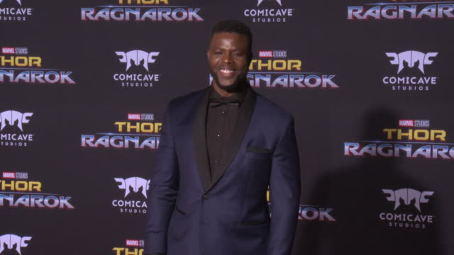 winston duke at the thor ragnarok premiere at the el capitan theatre on october 10 2017 in hollywood california - thor: ragnarok stock videos & royalty-free footage