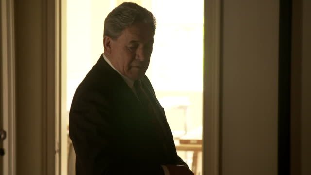 stockvideo's en b-roll-footage met winston peters at the waitangi treaty grounds during the 2017 general election campaign - bay of islands nieuw zeeland