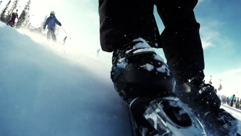 winter activities. skiing on a fresh snow - hill stock videos & royalty-free footage