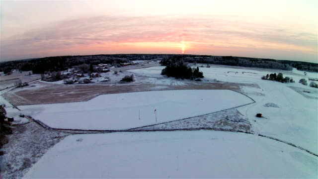 winter aerial view - quadcopter stock videos & royalty-free footage