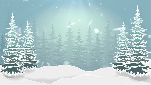 winter and christmas background with snowflakes falling animation - snowflake stock videos & royalty-free footage
