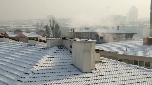 winter at ankara - roof appearance - roof tile stock videos & royalty-free footage