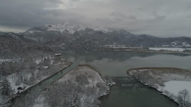Winter at Lake Kochelsee, Bavaria, Germany,Europe