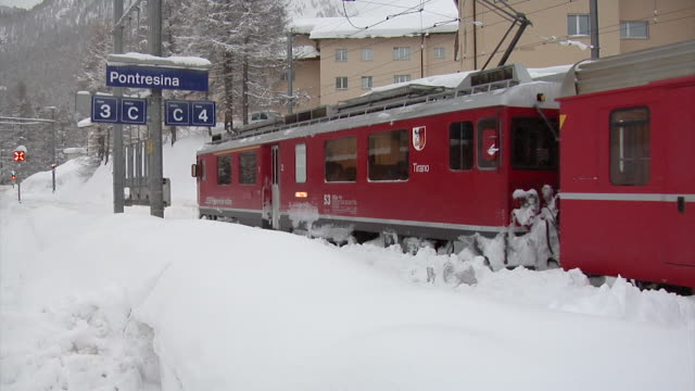 Winter at the Rhaetain Railway