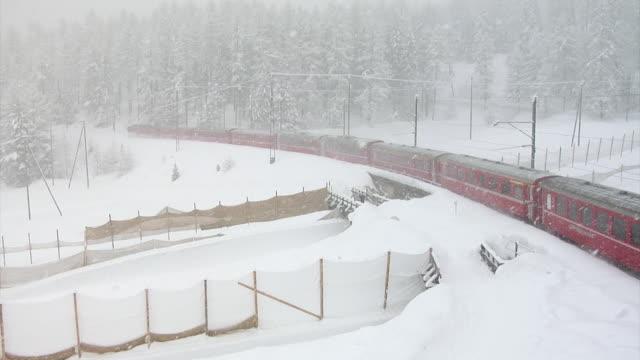 Winter at the Rhaetain Railway (Rhätische Bahn)