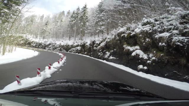 vídeos y material grabado en eventos de stock de winter autofahrt4 - geschwindigkeit