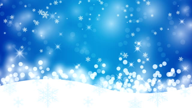 Winter background with snowflakes, abstract Christmas Background.