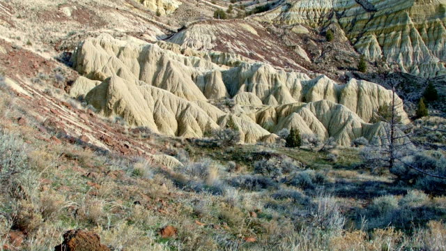 Winter Badlands formations John Day fossil beds Sutton mountain Painted Hills Oregon 13