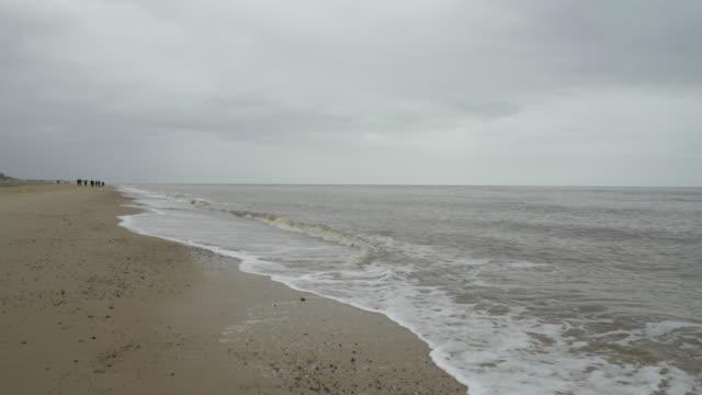 winter beach. - wet wet wet stock videos & royalty-free footage